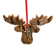 "Bark Moose Ornament - 4"" (9629)"