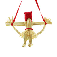 Tomte-Santa on Straw Swing Decoration (3815)