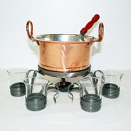 Copper Glogg Pot w/Laddle & 4 Cup Set (2106)