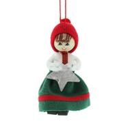 "Butticki Tomte Girl w/ Stat Ornament - 3"" (13163)"