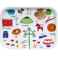 "Birch Wood Tray - Swedish Treats - 10.5"" (86653)"