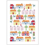Tea Towel/Kitchen Towel - Cottages (86050)