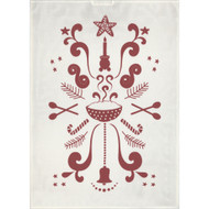 Ekelund Tea/Kitchen Towel - Tinas Jul White-03 (Tinas Jul White-03)