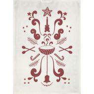 Ekelund Tea/Kitchen Towel - Tinas Jul White-03 (Tinas Jul White-03)