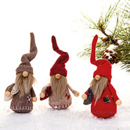 "Nordic Tomte with Swirly Hats - Set of 3 - 5"" (8457)"