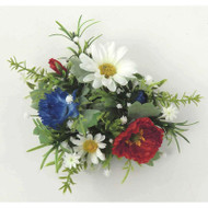 "Candle Ring - Daisy Poppy - Red, White, Blue - 4"" (E137-RBW)"