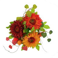 "Gerbera Berry Candlering - Orange - 4"" (L503-Y7)"