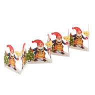 Paper Cutout - Santa-Tomte w/Candle and Tree (BK-24)