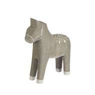 "Wooden Dala Horse - Grey/Small - 5"" (81127)"