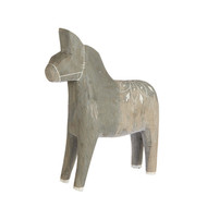 "Wooden Dala Horse - Grey/Medium - 7"" (81126)"