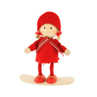 "Tomte-Santa Girl on Snowboard - 5"" (26300)"