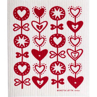 Swedish Dishcloth - Hearts (600379)