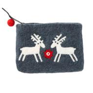 Felt Coin Purse - Reindeer - Klippan (590449)