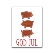 God Jul Pepparkaksgrisar Gift Card (LS10)