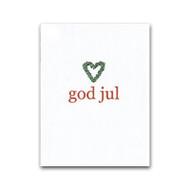 God Jul Heart Wreath Gift Card (J12)