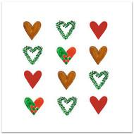 Jul Hearts Card - Blank w/Envelope (A37)