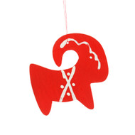 Goat/Julbock Ornament - Wooden - Red (883)