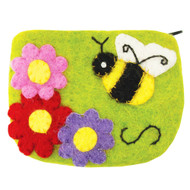 Honey Bee Felt Coin Purse (22115B