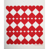 Swedish Dishcloth - Harlequin Hearts (218.25)