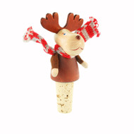"Moose Bottle Cork/Stopper - 4"" - Wooden (26253)"