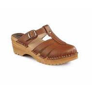 Mary Jane Clog Sandals - Napa Tan (6077-266)