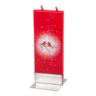 Handmade Decorative Flat Candles - Domherre/Bullfinch (F1623)