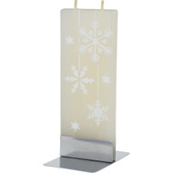 Handmade Decorative Flat Candle - Snowflakes (D051)