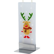 Handmade Decorative Flat Candle - Reindeer (D051)