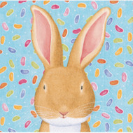 Caspari Wabbit Blue Paper Cocktail Napkins (13650C)