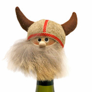 "Viking Bottle Topper - 4"" - Wooden/Felt (26247)"