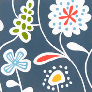 Flower Meadow Blue Paper Luncheon Napkins