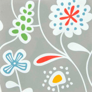 Flower Meadow Grey Paper Luncheon Napkins