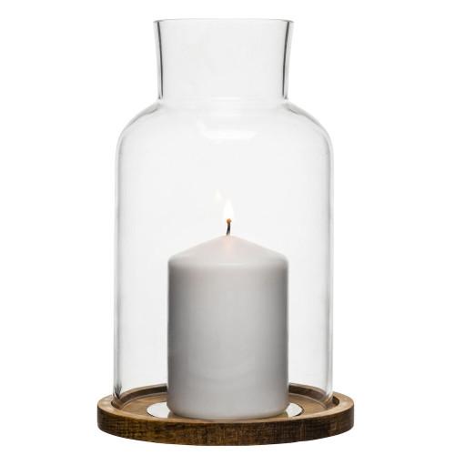 Sagaform Oak Hurricane Candle Holder - Giftset (5003444