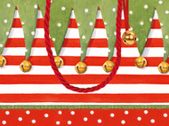 "Gift Bag - Small - Stocking Stripe - 5"" X 7"" (9715B1)"