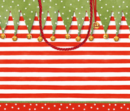 "Gift Bag - Large - Stocking Stripe - 10"" X 11"" (9715B3)"