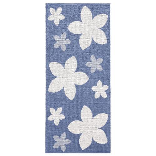 Plastic Rug   Flower   Blue (11403)
