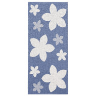 Plastic Rug - Flower - Blue (11403)