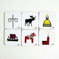 Swedish Symbols Coasters (980-46)