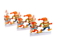 Paper Cutout - Christmas Running Tomtar (BK-34)