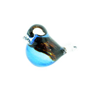 "Bianco-Blue-Finnish Glass Bird - Light Blue - 2.5""H X 3"" L (20-0005)"