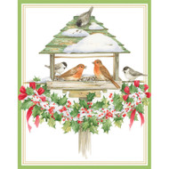 Holiday Bird Feeder Christmas Card Box A Size 16 In (87012)