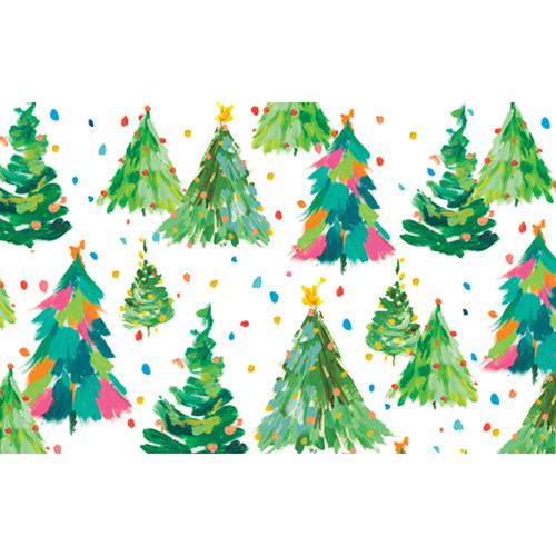 brushstroke trees christmas card box a size 16 in 87024 - Caspari Christmas Cards