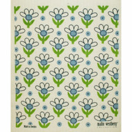 Swedish Dishcloth - Blue Flowers (70673)