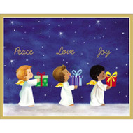 Angels With Gifts Christmas Card Box A Size 16 In (82039)
