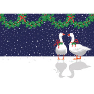 Christmas Geese Christmas Card Box B Size 16 In (87113)