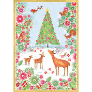 Christmas Forest Christmas Card Box B Size 16 In (87112)
