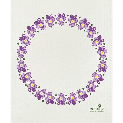Swedish Dishcloth - Violets (DT1707)