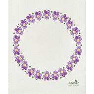 Swedish Dishcloth - Violets (DT1707)