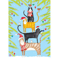 Christmas Cat Tower Christmas Card Box B Size 16 In (87103)