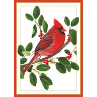 Cardinal On Branch Christmas Card Box B Size 16 In (87110)